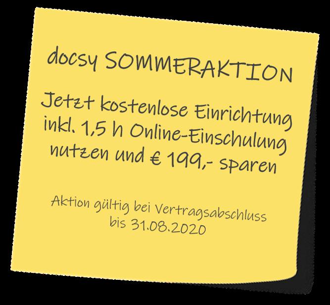 docsy SOMMERAKTION 2020