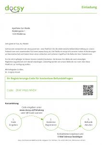 Zuweiser einladen - Dokument
