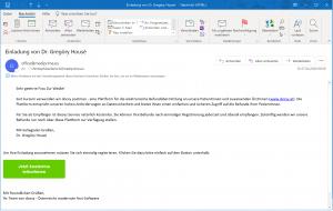 Zuweiser einladen - E-Mail